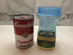 Tomato Soup Can and Juice Bottle